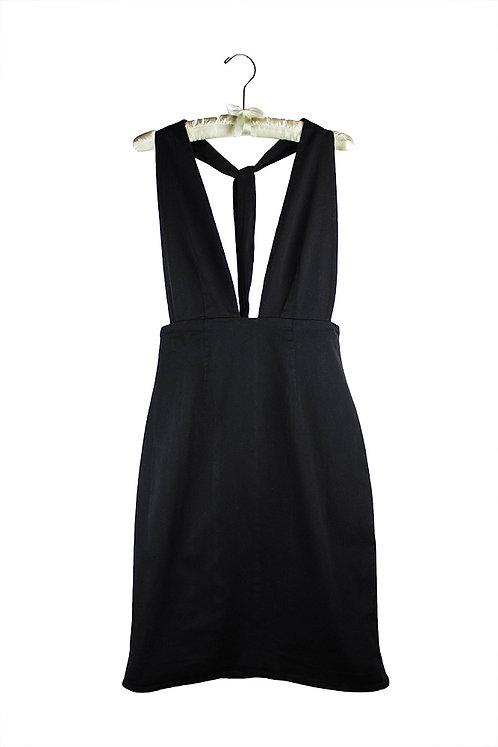 organic cotton sateen halter dress