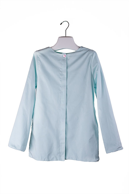 organic cotton long sateen jacket