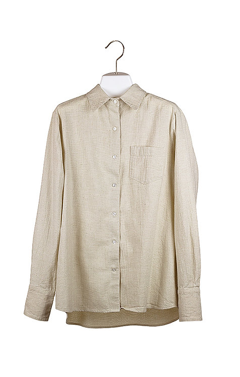 loose long sleeve natural cotton shirt
