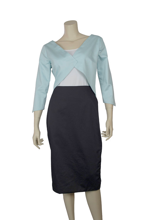 sateen pointed jacket