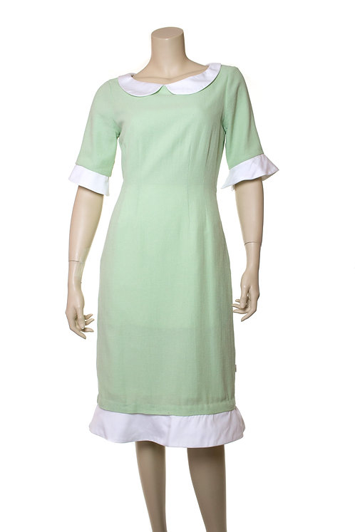 short sleeve leno dress