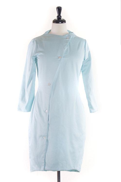 asym sateen dress