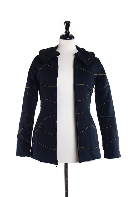organic cotton sateen quilted jacket