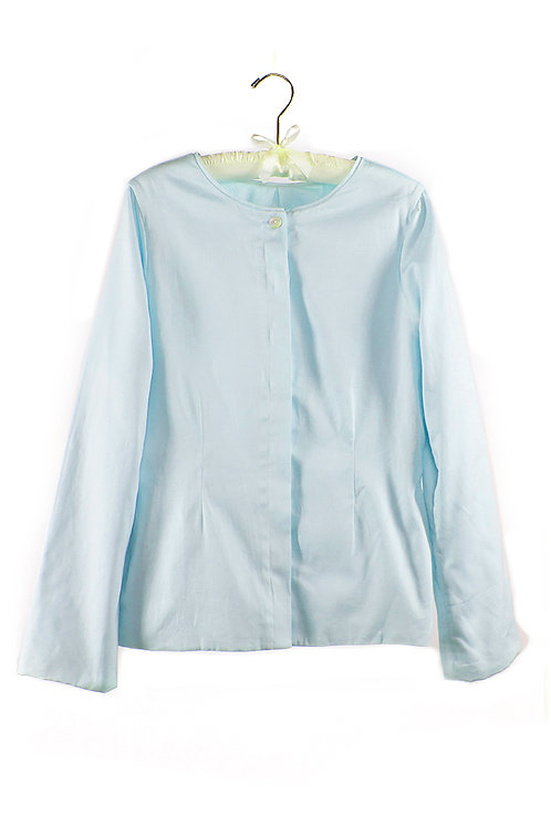 organic cotton short sateen jacket