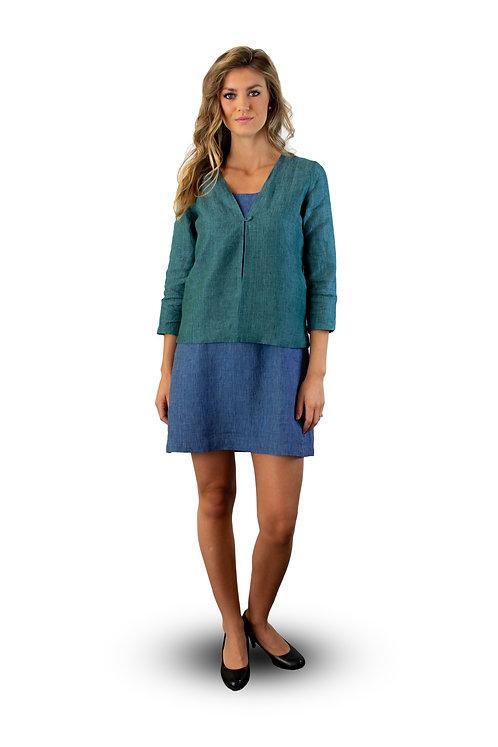 hand-loom organic linen jacket