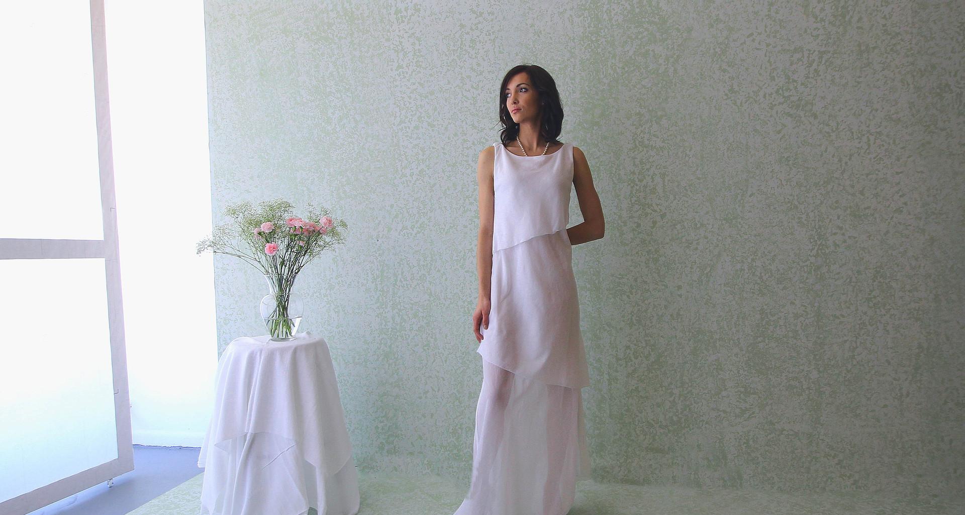 slant layer gown  model Taylor . photo Gia