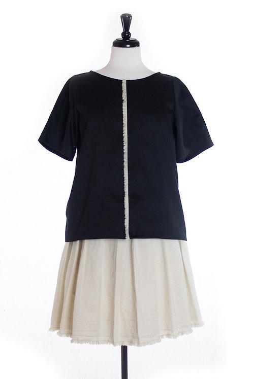 vertical pleated skirt