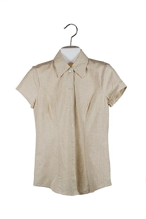 capsleeve natural cotton shirt