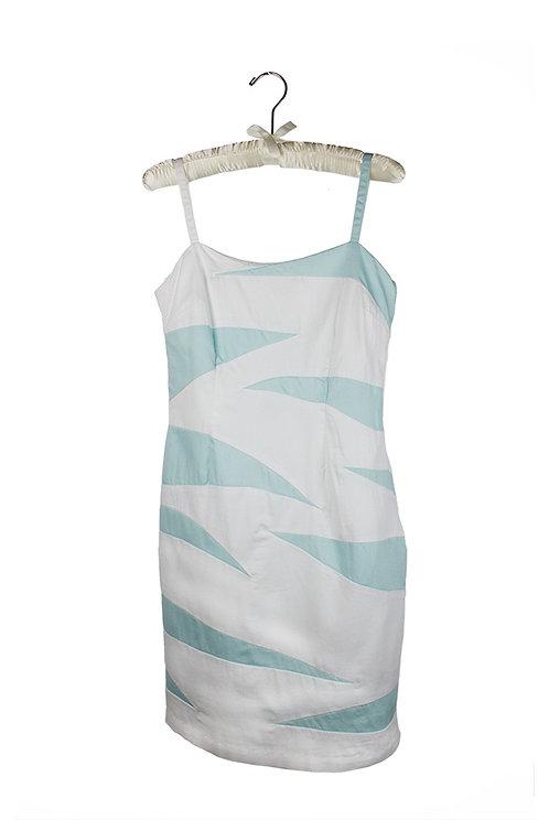 organic cotton sateen tiger stripe dress