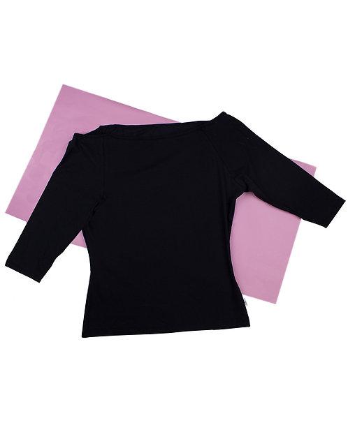 organic cotton knit off-shoulder
