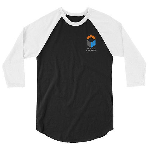 M.A.C.J Apparel Unisex 3/4 sleeve raglan shirt (Inverted)