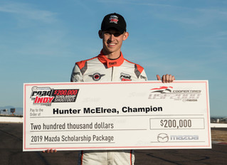 McElrea wins 2018 Mazda Road To Indy Shootout!