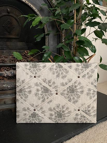 Grey Clover Seed Fabric Notice Board