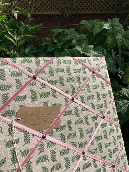 Box Green Achillea Ground Fabric Notice Board