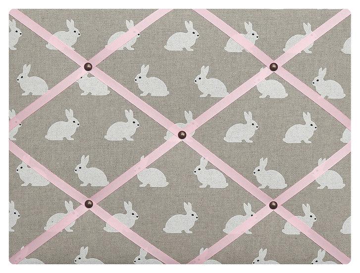 Bunny Fabric Notice Board (many ribbon colours)