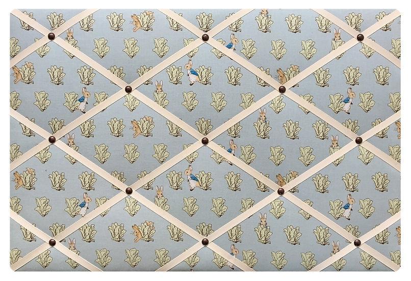 Peter Rabbit Fabric Notice Board (many ribbon colours)
