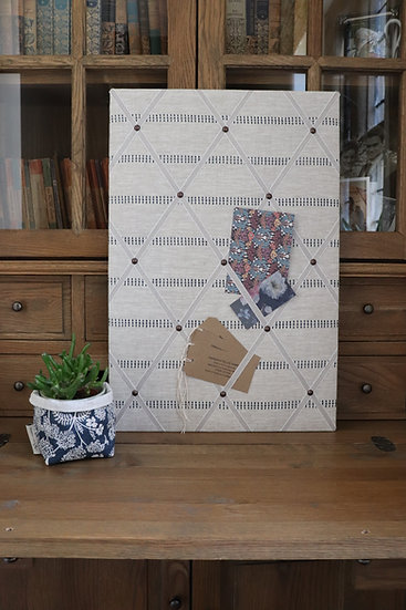 K stripe Fabric Notice Board
