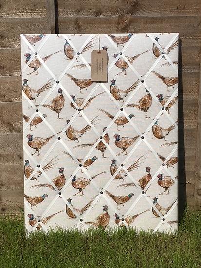 80x60cm Pheasant Fabric Notice Board