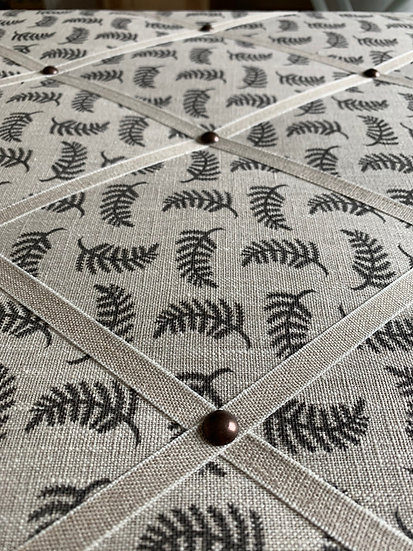 Grey Achillea Foliage Fabric Notice Board