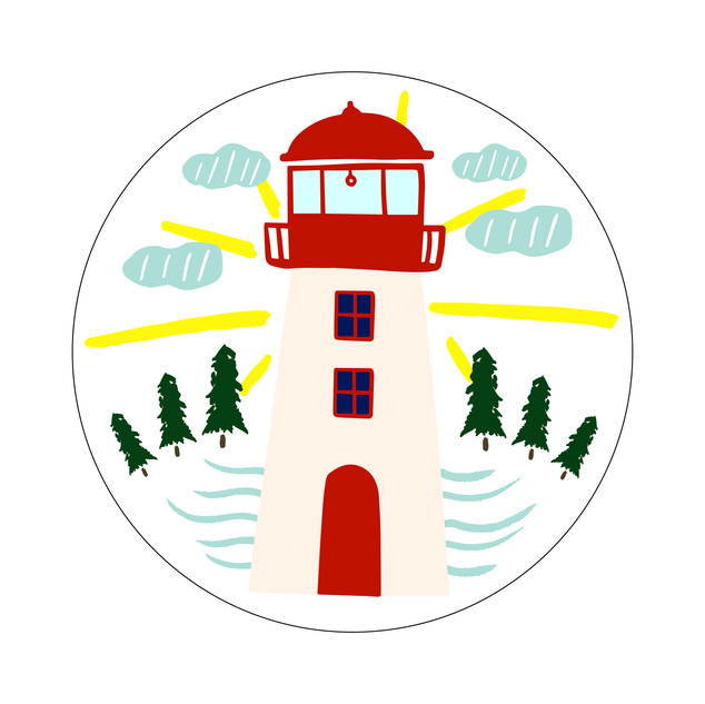 Parks Canada Sticker Design-Marine Conservation Series-Lighthouse