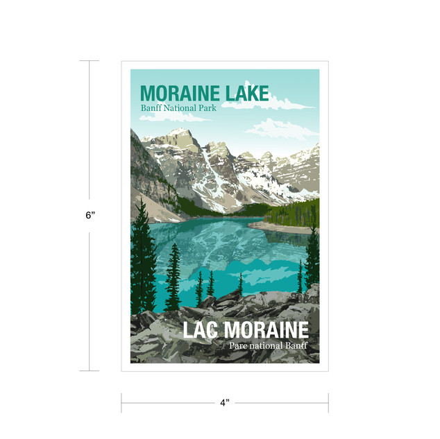 Parks Canada Vintage Series-Moraine Lake Banff National Park
