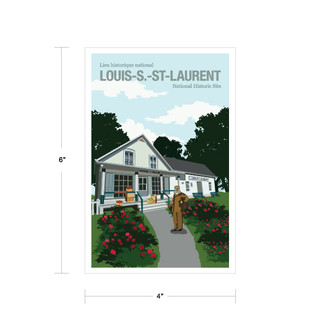 Parks Canada Vintage Series-Louis. S. St. Laurent National Historic Site