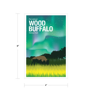 Parks Canada Vintage Series-Wood Buffalo National Park