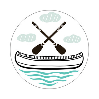 Parks Canada Sticker Design-Historic Site Series-Canoe