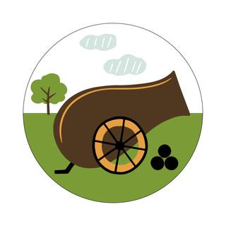 Parks Canada Sticker Design-Historic Site Series-Canon
