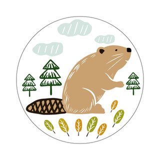 Parks Canada Sticker Design-Camping Series-Beaver