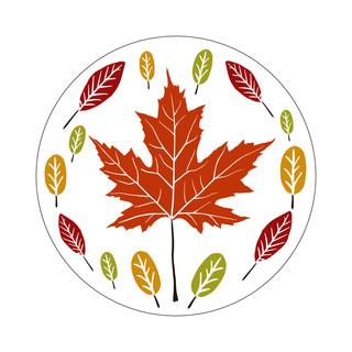 Parks Canada Sticker Design-Camping Series-Maple Leaf