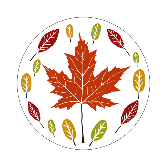 Parks Canada Sticker Design-Camping Series-Maple Leaf
