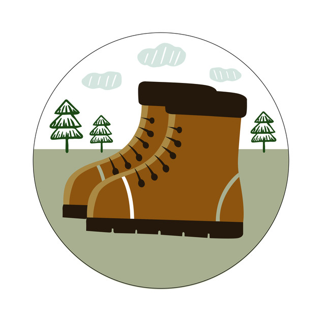 Parks Canada Sticker Design-Camping Series-Hiking Boots