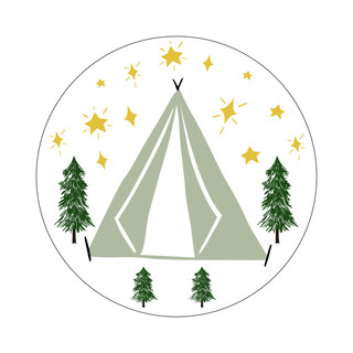 Parks Canada Sticker Design-Camping Series-Tent