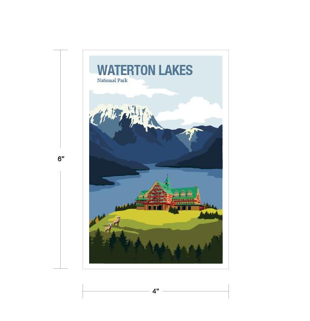 Parks Canada Vintage Series-Waerton Lakes National Park