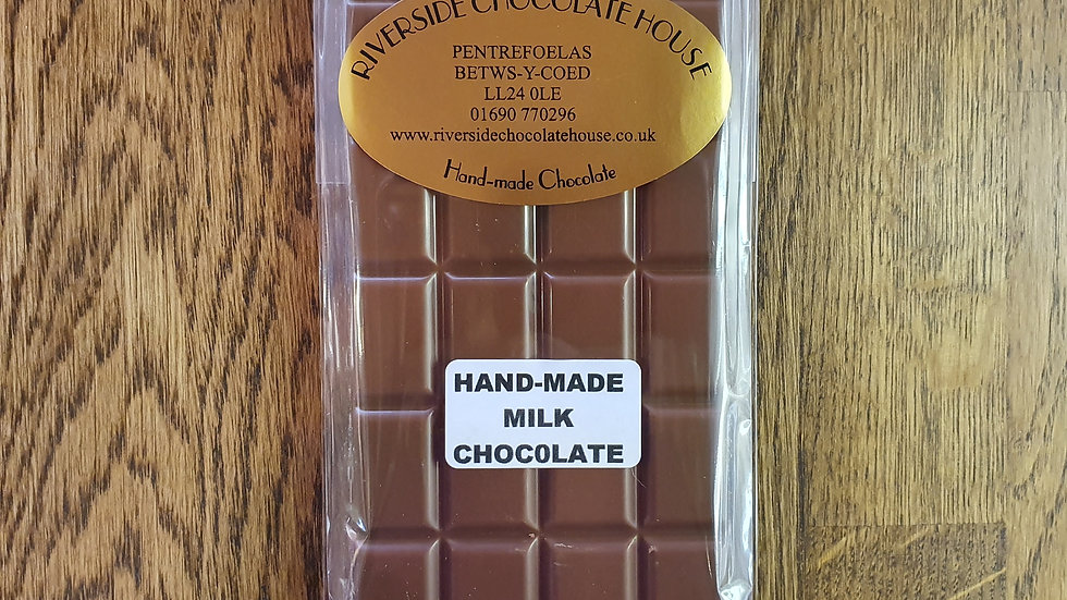 Hand Made Milk Chocolate Bar.