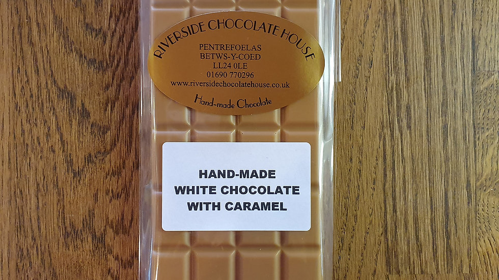 Hand Made White Chocolate and Caramel Bar