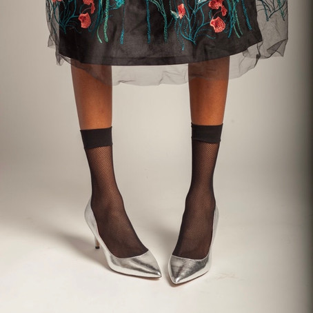 Fishnets & Florals - A Bold Chic Look!