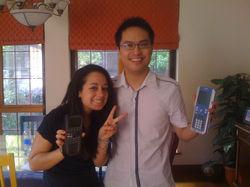 Marcella with tutor Ken