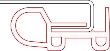 ALLUPACK side rail PVC gasket