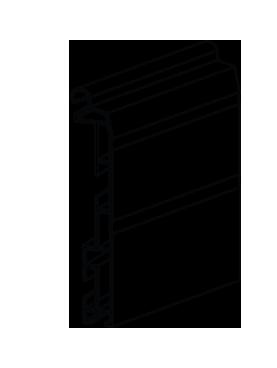 Aluminum bottom guiderail