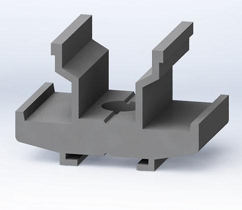 Dado girevole in alluminio con molla