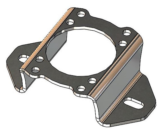 Plate to fix LAT motor with shaft support