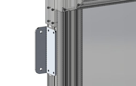 Piastra di ancoraggio montante - Rail side fixing plate