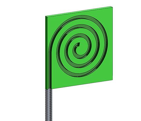 Polyzene side spiral plate
