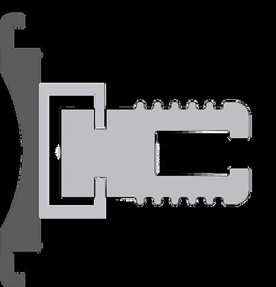 Profilo piatto per supporto polizene - Polyzene support plate profile