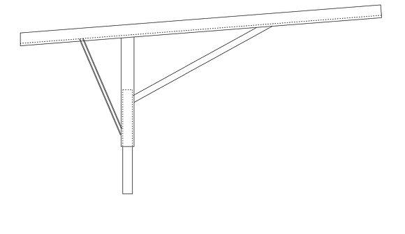 Vertical frame leg