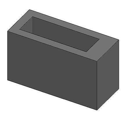 Concrete vase plinth