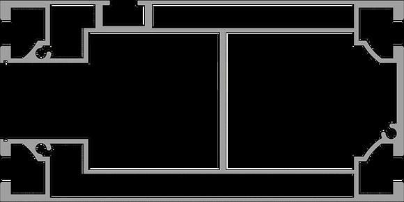 160x80 profile with cavity