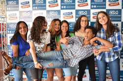 alunos na festa junina do gm